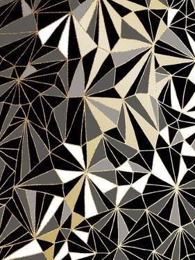Art Deco Geometry - Black and Gold by Dominique Vari