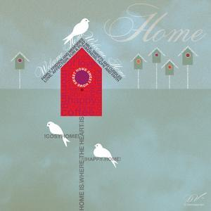 Bird House - Blue Grey by Dominique Vari