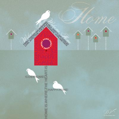 Bird House - Blue Grey