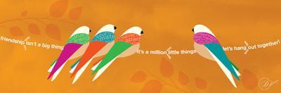 Birds Life - Best Friends Orange
