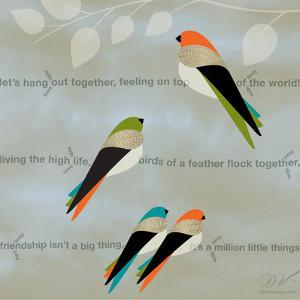 Birds Life - Friendship by Dominique Vari