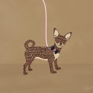 Chihuahua on Beige by Dominique Vari