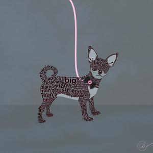 Chihuahua on Blue by Dominique Vari