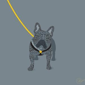 French Bulldog on Grey by Dominique Vari