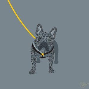 French Bulldog on Grey by Dominique Vari