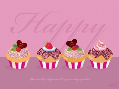 Happy Cupcakes - Pink by Dominique Vari