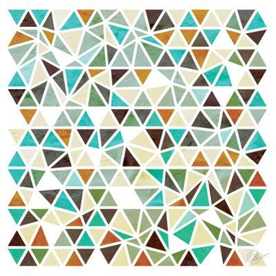 Triangles - Gold and Turquoise