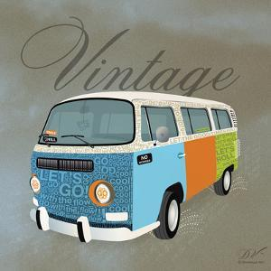 Vintage Camper Van by Dominique Vari