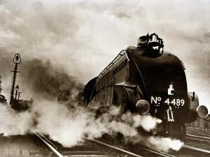 Dominon of Canada Steam Train Leaving London Kings Cross for Edinburgh, June 1938