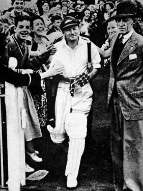 Don Bradman Going Out to Bat for the Last Time