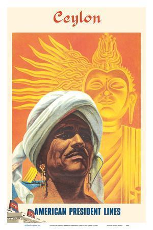 Ceylon (Sri Lanka) - Devil Dancer - American President Lines