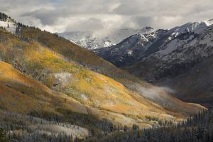 Colorado, San Juan Mountains. Red Mountain Pass after Autumn Snowfall by Don Grall
