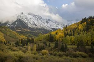 Colorado, Sneffels Range. Snow Clouds over Mt Sneffels at Sunset by Don Grall