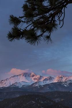 USA, Colorado. Sunrise on Pikes Peak by Don Grall