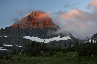 USA, Montana, Glacier National Park. Sunrise on Reynolds Mountain by Don Grall