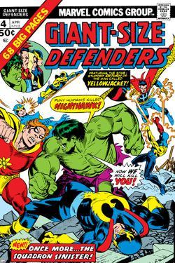 Giant-Size Defenders No.4 Cover: Hulk, Dr. Strange, Hyperion, Dr. Spectrum and Nighthawk Fighting by Don Heck