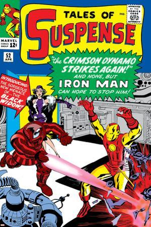 Tales Of Suspense No.52 Cover: Crimson Dynamo, Iron Man and Black Widow Fighting by Don Heck