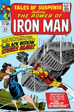 Tales Of Suspense No.53 Cover: Iron Man and Black Widow Flying by Don Heck