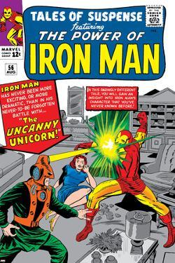 Tales Of Suspense No.56 Cover: Iron Man and Unicorn Fighting by Don Heck