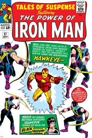 Tales Of Suspense No.57 Cover: Iron Man, Hawkeye and Black Widow by Don Heck