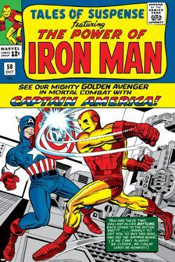 Tales Of Suspense No.58 Cover: Iron Man and Captain America Fighting by Don Heck
