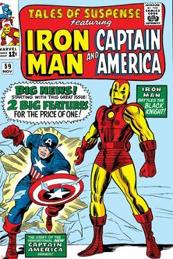 Tales Of Suspense No.59 Cover: Iron Man and Captain America Charging by Don Heck