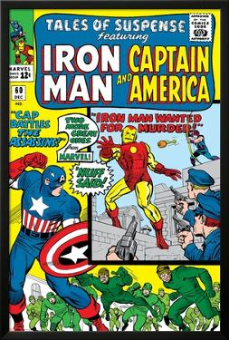 Tales Of Suspense No.60 Cover: Iron Man, Captain America, Hawkeye and Assasin Fighting by Don Heck