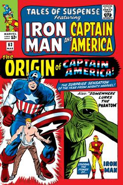 Tales Of Suspense No.63 Cover: Iron Man, The Phantom, Captain America, Rogers and Steve by Don Heck