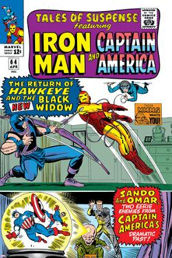 Tales Of Suspense No.64 Cover: Iron Man, Captain America, Hawkeye, Black Widow, Sando and Omar by Don Heck