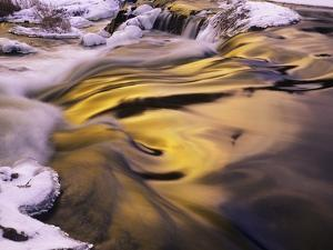 Evening Sky Reflected in Rapids, Junction Creek, Walden, Ontario, Canada by Don Johnston