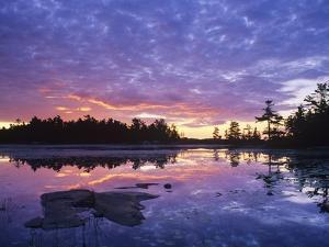 Lighthouse Pond at Sunrise, Kilarney Provincial Park, Ontario, Canada by Don Johnston