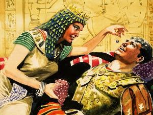Cleopatra and Mark Antony by Don Lawrence
