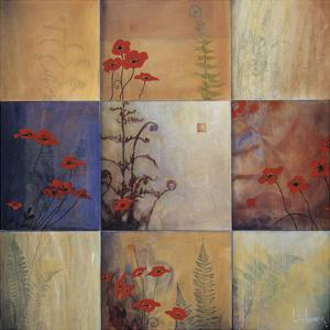 Poppy and Fern Nine Patch by Don Li-Leger