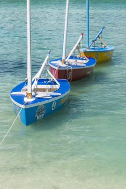 Bahamas, Exuma Island. Boats Moored in Harbor by Don Paulson