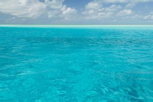 Bahamas, Exuma Island. Seascape of Aqua Ocean by Don Paulson