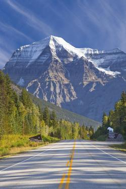Highway through Mount Robson Provincial Park, British Columbia, Canada by Don Paulson