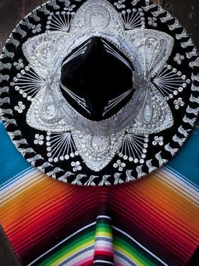 Mexico, San Miguel de Allende. Arrangement of sombrero and blanket. by Don Paulson