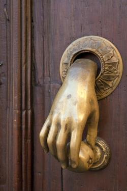 Mexico, San Miguel de Allende. Detail of a door and door knocker. by Don Paulson