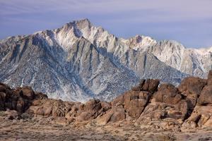 Usa, California, Lone Pine Peak from Alabama Hills, near Lone Pine by Don Paulson Photography