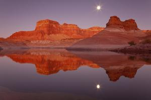 Usa, Utah, Glen Canyon National Recreation Area, Face Canyon, Lake Powell, Reflection of Cliffs in by Don Paulson Photography