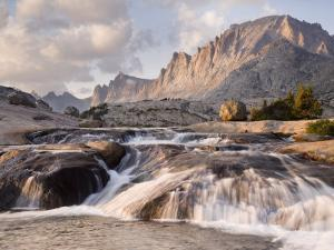 Rapids and Fremont Peak on Lower Titcomb Basin, Bridger National Forest, USA by Don Paulson