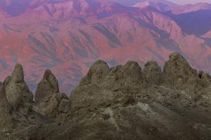 USA, California. Sunset on Trona Pinnacles by Don Paulson