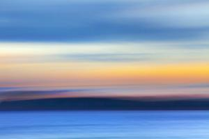 USA, Washington State, Hood Canal. Abstract of Ocean and Sky by Don Paulson