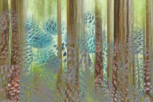 USA, Washington State, Seabeck. Collage of Pine Cones and Trees by Don Paulson