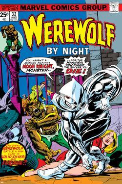 Werewolf By Night No.32 Cover: Moon Knight and Werewolf By Night by Don Perlin