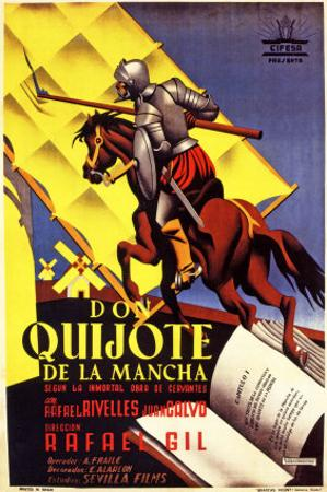 Don Quixote, Spanish Movie Poster, 1934