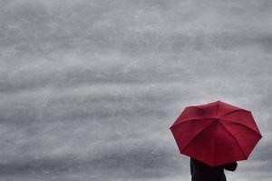 Schwartz - Little Red Umbrella by Don Schwartz