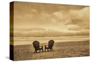 Schwartz - Two Chairs on the Sand by Don Schwartz
