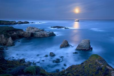 Dawn Moonset at Garrpata State Park by Don Smith