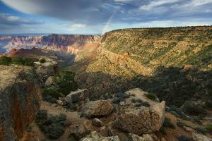 Double Rainbow over Desert View by Don Smith